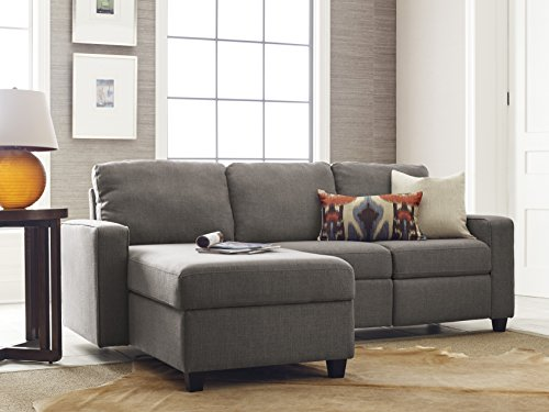 Serta Palisades Reclining Sectional with Left Storage Chaise - Gray Left Sectional