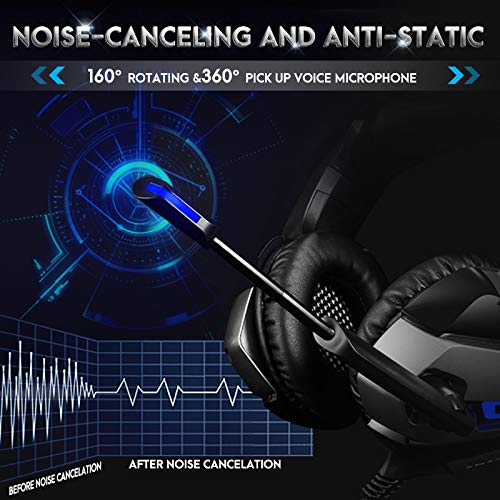ONIKUMA Gaming Headset for PS4, Xbox One, PC, Gaming Headphones with 7.1 Stereo Surround Sound, Updated Noise Cancelling Mic, PS4 Headset Xbox Headset with Mute & Volume Control for Mac, Laptop, NS by ONIKUMA (Image #3)