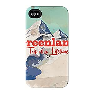 Greenland Full Wrap High Quality 3D Printed Case for iPhone 4 / 4s by Nick Greenaway + FREE Crystal Clear Screen Protector