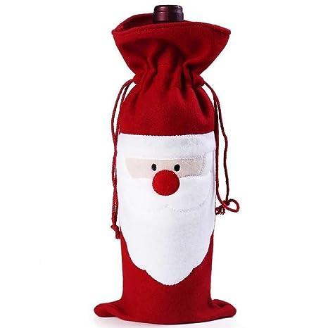 Primi 1pieza bolsa de elfo navideño Candy Papá Noel Candy calcetines Elf para botellas para botella