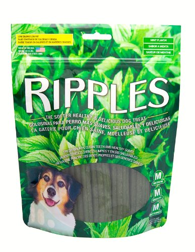 Ripples 12-Ounce Medium Mint Flavor Dog Treats, My Pet Supplies