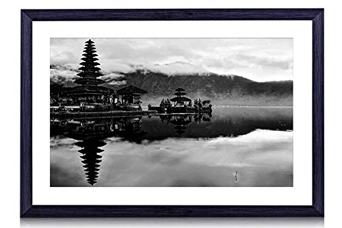 Bali, Indonesia - Art Print Black Wood Framed Wall Art Picture For Home Decoration - Black and White 24''x16'' (60cmx40cm) - Framed by GLITZFAS