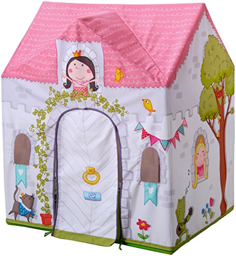 HABA Princess Rosalina Castle Play Tent with Roll Up Doors and Windows for 18 Months and Up