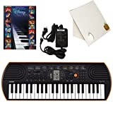 Casio SA-76 44 Key Mini Keyboard Deluxe Bundle Includes Bonus Casio AC Adapter, Desktop Music Stand & Disney Solos Beginning Piano Solo Songbook