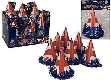 b7fef9646cb Union Jack Party Hats - 8 Pack - Ideal For The Queen s Jubilee ...