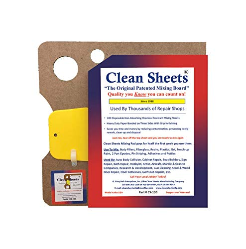 Clean Sheets Superior Mixing Pad (12x12) - 100 Disposable Sheets For Toughest -