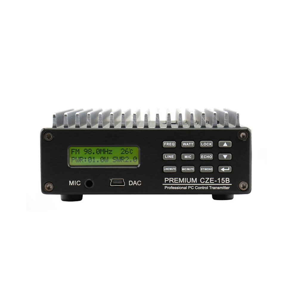 Happy Hours® 0-15W CZE-15B FM Transmitter 0-15w Power Adjustable Radio Broadcaster CD Sound Quality + 1/4 or 1/2 wave 100% AL antenna & Power Adapter Kit Set by Happy Hours® (Image #4)