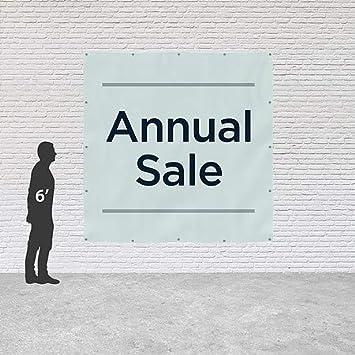Basic Teal Heavy-Duty Outdoor Vinyl Banner 8x8 Annual Sale CGSignLab
