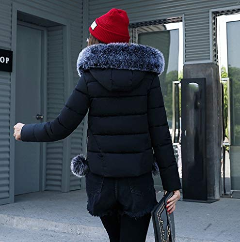 Ladies Outwear Collar TUDUZ Fur Quilted Women Jacket Black Womens Hooded Parka New Winter Coat Puffer IxgwxvRd