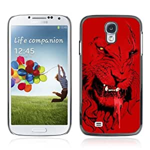 Designer Depo Hard Protection Case for Samsung Galaxy S4 / Angry Red Lion Tiger Cat