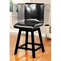Furniture of America Rathbun Modern Counter Height Swivel Dining Chairs - Set of 2