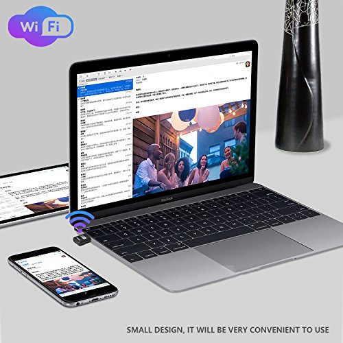 JUHANG AC 600M Wireless USB adapter Dual Band (2.4G/150Mbps+5.8G/433Mbps), Wireless USB Dongle Antenna Network Adapter Works with Any WiFi Routers, The Unique Design Brings free Wireless Digital Life by JUHANG (Image #5)