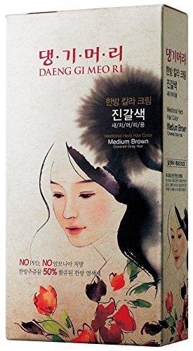 Medicinal Herb Hair Color (No Ammonia & No PPD) (Medium Brown)Buy2Get1Free! by Daeng Gi Meo - Ri Malls