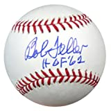 ": Bob Feller Autographed Official MLB Baseball Cleveland Indians ""HOF 62"" PSA/DNA Stock #12037"