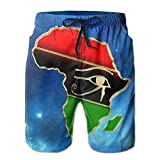 I Like Exercise Eye of Horus in Pan African Colored Africa Map Men's Boardshorts Printed Quick Dry Board Shorts XX-Large