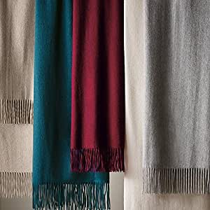 Woven Cashmere Throw - Brown Gray - Frontgate