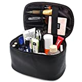 Makeup Bag,365park Travel Cosmetic Case Organizer Bag with Brush Holder(Z005/Black)