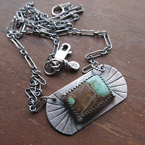 Short Silver and Turquoise Western Style Necklace- Diana Anton Jewelry Design