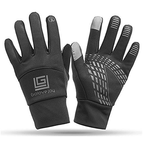 CoCocina Touchscreen Winter Motorcycle Handschuhe Wasserdicht Unisex Warm Gloves - Black - XL