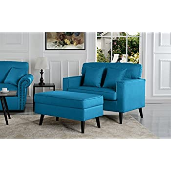 Amazon Com Chelsea Lane Lashay Velvet Lounge Chair