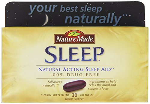 Nature Made Softgel Sleep Natural Sleep Aid, 30-Count