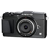 Olympus E-P5 16.1MP Mirrorless Digital Camera with 3-Inch LCD- 15mm body cap lens BCL-1580 set (Black) - International Version (No Warranty)