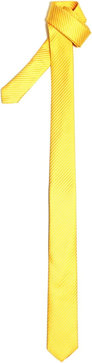 Retreez Corbata fina para hombres con textura de rayas Amarillo ...