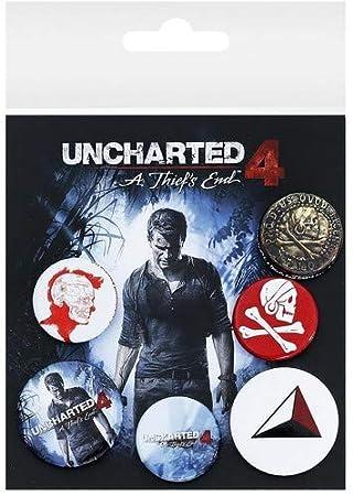 Otros Fabricantes GB Eye, Uncharted 4, Mix, Pack de Chapas, Metal, Multi, Unico: Amazon.es: Hogar