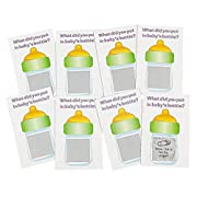 Baby Shower Scratch Tickets. Baby Shower Scratch-n-win Tickets. Great Game! (24 Pack) 4 1/4  X 2 . Cardboard.