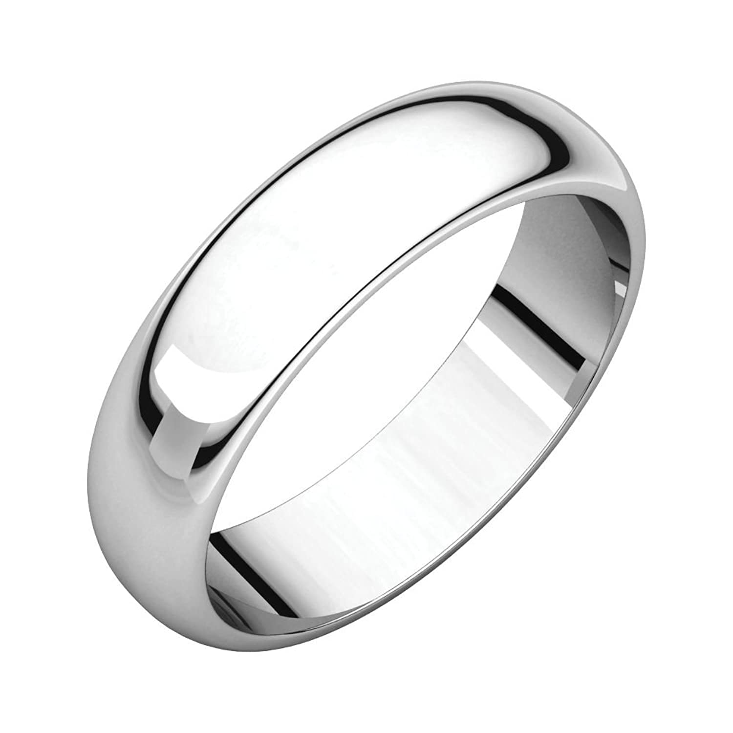 10K White 5mm Half Round Band