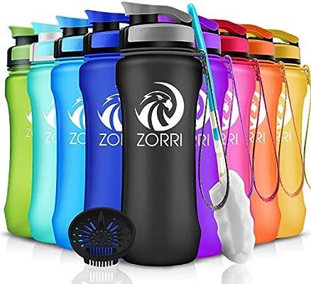 Sports Water Bottle 600ml BPA Free Non Toxic Tritan Plastic Water Bottle With Le