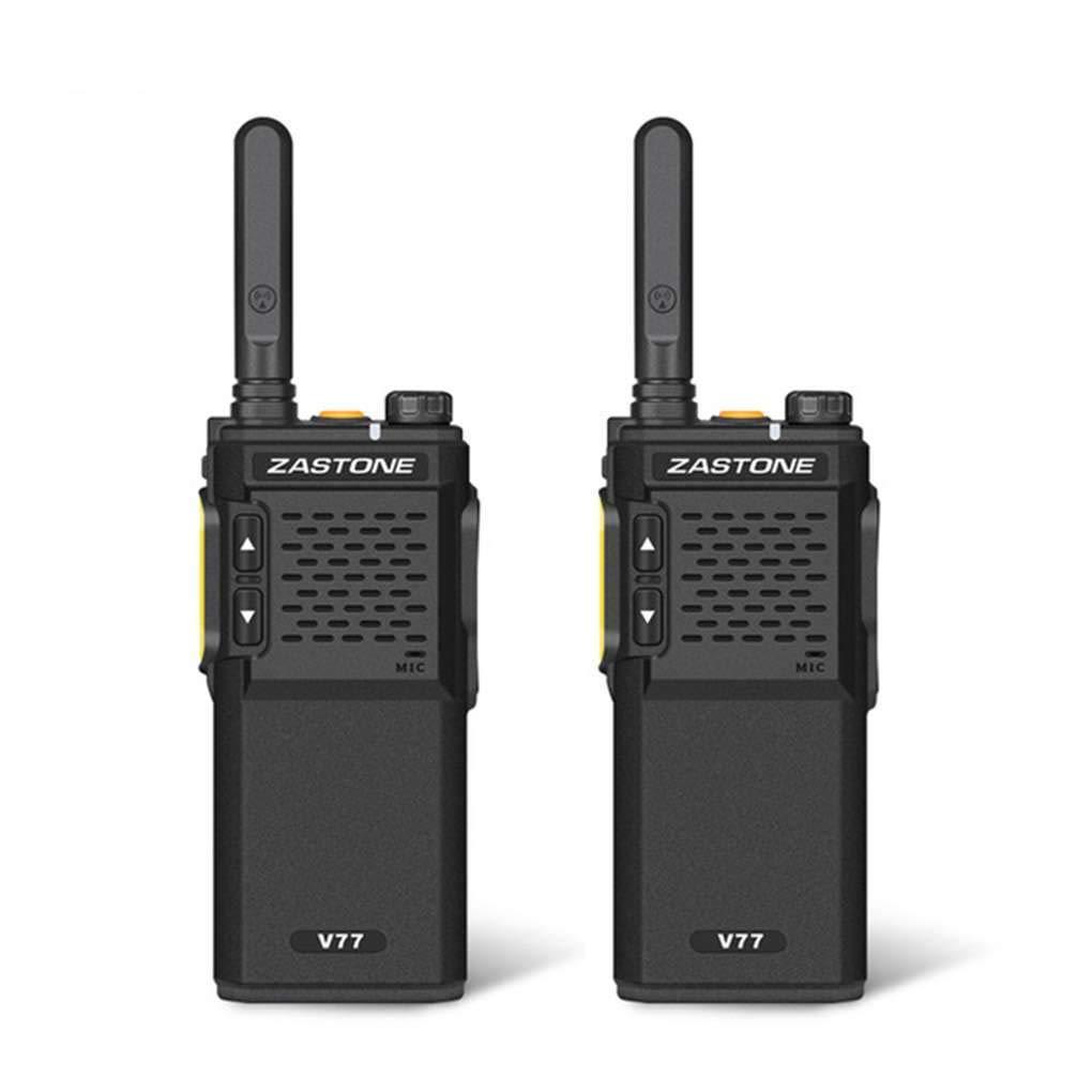 Xuanhemen 1Pc/2Pcs ZASTONE V77 Walkie Talkie UHF 400-470MHz 16CH Mini Walkie Talkies Amateur Ham Radio Communicator HF Transceiver