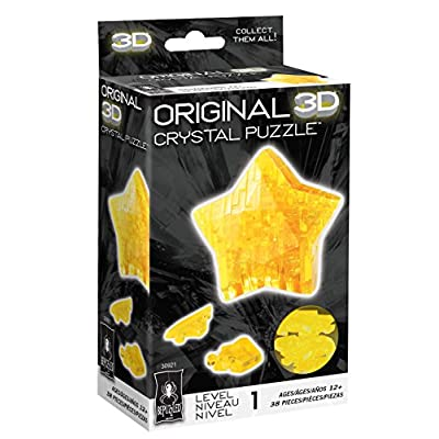 Bepuzzled Original 3D Crystal Puzzle - Star - Fun yet challenging brain teaser that will test your skills and imagination, For Ages 12+: Toys & Games