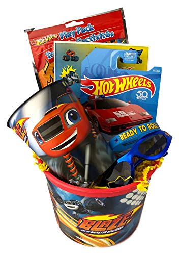 (Premade Blaze Gift Basket for Young Boys Ideas for Easter Valentines Birthday Get)
