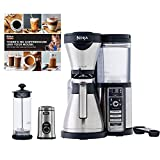 Ninja Coffee Bar, Carafe, Frother, Recipes & Grinder (Renewed)