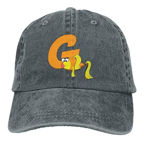 hanbaozhou Baseball G Goldfish Adjustable Cap Denim béisbol for Female is Great Hat Gorras prpqf