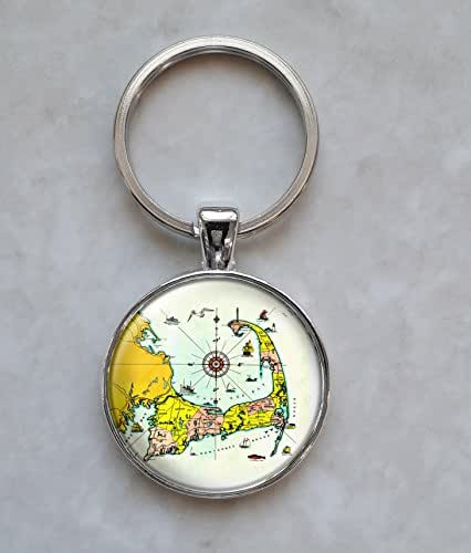 Cape Cod Map Cartography Keychain