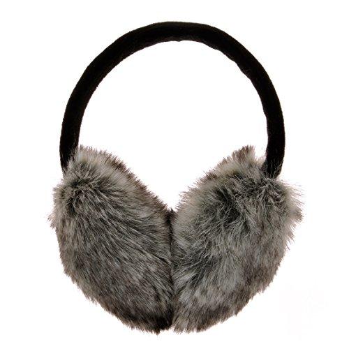 ZLYC Womens Girls Winter Fashion Adjustable Faux Fur EarMuffs Ear Warmers, Grey by ZLYC