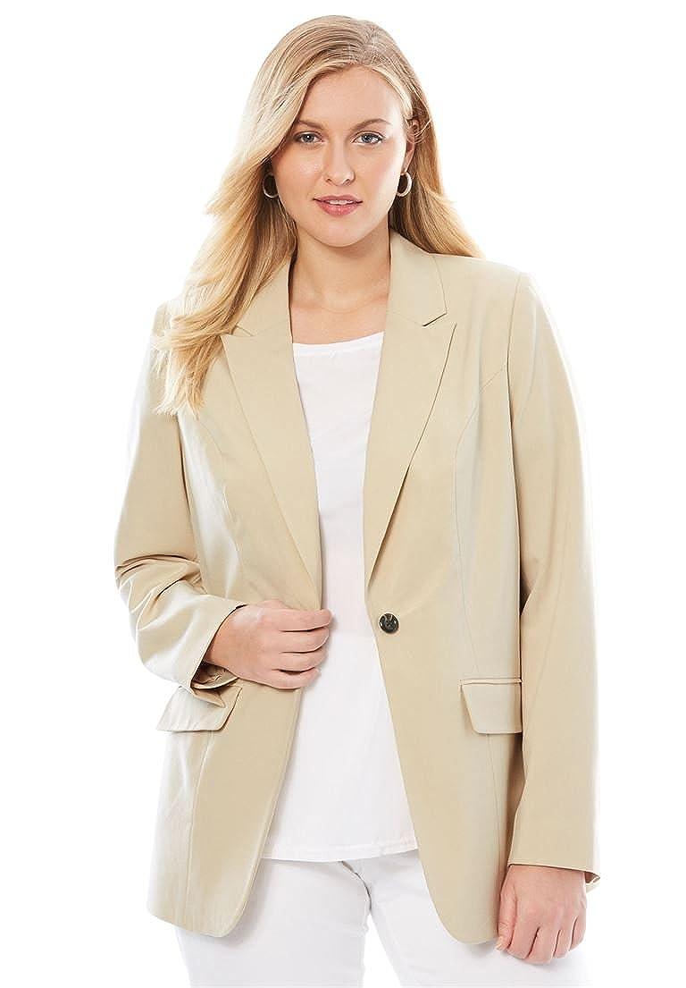 Jessica London Women's Plus Size Bi-Stretch Blazer