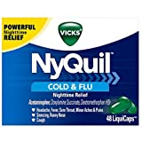 Vicks NyQuil Cold & Flu Nighttime Relief LiquiCaps 24 ea (Pack of 12)