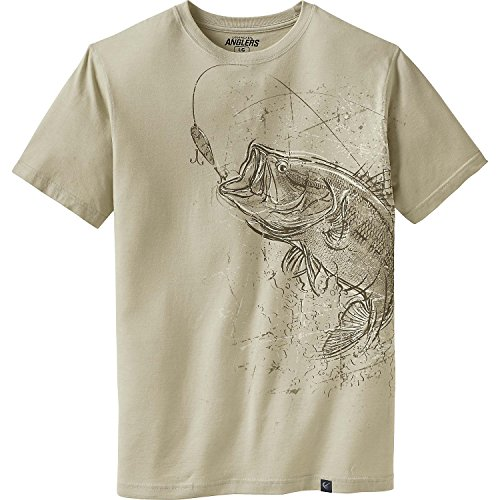 Legendary Whitetails Men's Striking Bass Short Sleeve Tee Winter Heather Large Tall - Fish Short Sleeve Tee