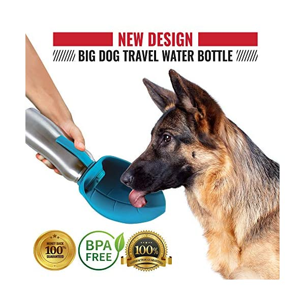 Tuff Pupper PupFlask Portable Water Bottle | 27 or 40 OZ Stainless Steel | Convenient Dog Travel Water Bottle Keeps Pup Hydrated | Portable Dog Water Bowl & Travel Water Bottle for Dogs 4