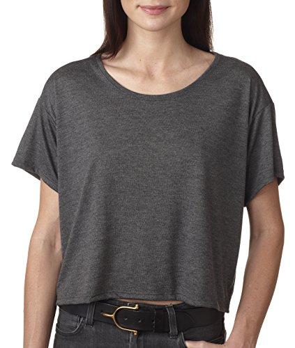 (Bella womens Flowy Boxy T-Shirt(B8881)-DRK GREY HEATHER-L/XL)