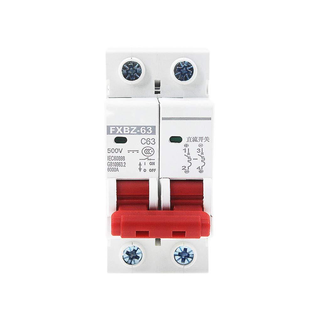 YHZDLQ Disyuntor Dc 1000V Interruptor De Protección Contra Sobrecarga Del Disyuntor Solar Mini 6A / 10A / 16A / 20A / 25A / 32A / 40A / 50A / 63A 2P Dc1000V Mcb Fotovoltaico Q360Q