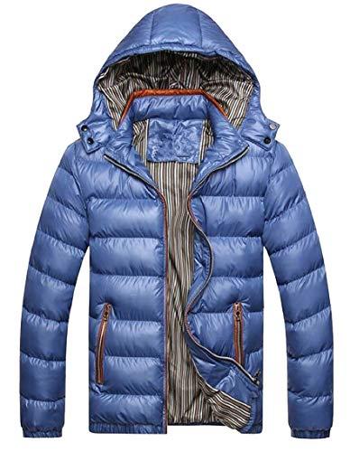 Puffer Lightweight Gocgt Winter Blue Hoodie Mens Down Coat Jacket v7wY1qxS