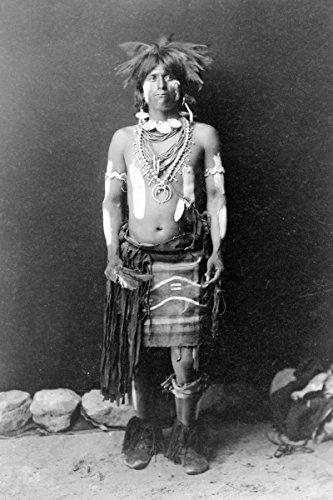 Edward Curtis Snake Dancer In Costumes (Photo Print 11x17: Snake Dancer In Costume, 1900)