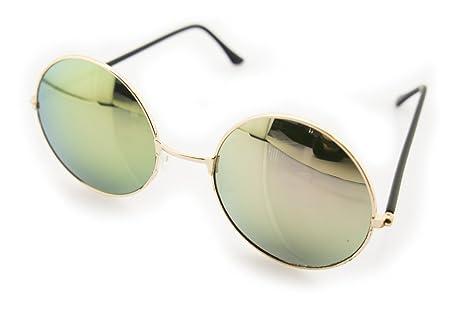 e4a37cde2b HAND 7001 John Lennon Style Sunglasses with Violet Mirrored Lenses ...
