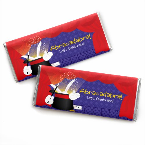 Magic - Candy Bar Wrappers Birthday Party Favors - Set of 24 -