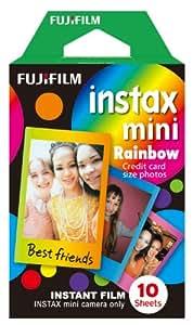 Fujifilm Instax Mini Rainbow Instant Film, 10 Photos/Pack (Rainbow)
