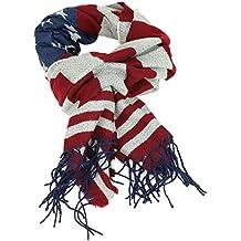 Trendy Apparel Shop USA Flag Stars and Stripes Print Scarf